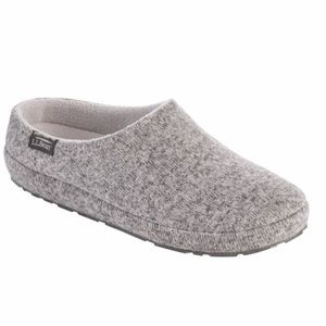 NEW LL Bean Pewter Sweater Lodge Slippers Size 6 M